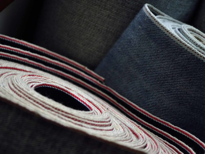 Rolls of selvedge denim